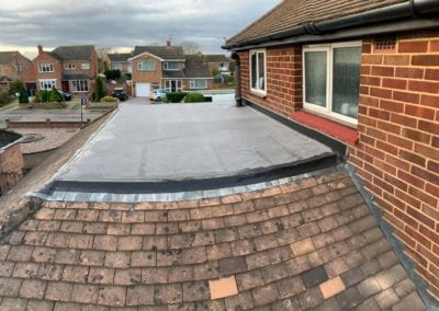 Flat Rubber EPDM Roof On Pitched Roof